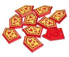 Lego 10 New Trans-Red Pentagonal Tiles 2 x 3 Nexo Power Shield Incinerate