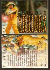 FUTERA 1996 WORLD CUP CRICKET WARRIORS Mark Waugh WC9. #0565