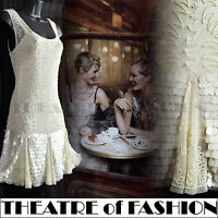 TOPSHOP VINTAGE FLAPPER DRESS 20s WEDDING BEAD SEQUIN GATSBY 30s JAZZY ART DECO