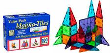 Magna-Tiles Clear Colors 100 Piece Set by Valtech