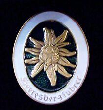 German Army Paratrooper Edelweiss Mountain Troop Uniform Award Pin Badge Medal