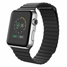 Magnetic Leather Loop Band For Apple Watch Series 5 4 3 2 1 42mm 38mm 44mm 40mm