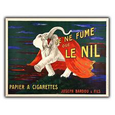 Je ne fume que Le Nil METAL SIGN WALL PLAQUE French Vintage Retro Advert Decor