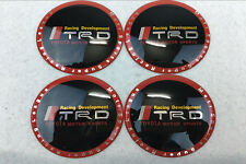 4Pcs 65mm Car Wheel Center Hub Caps emblem sticker Accessories TRD for Toyota