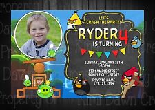 Angry Birds Invitation- DIGITAL FILE ONLY!