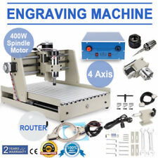 4 Axis CNC 3040 Router 3D Engraver 400W Wood Engraving Mill Cutting Machine NEW