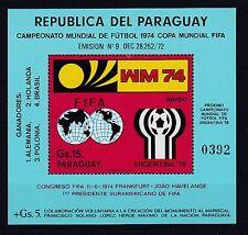 Paraguay postfrisch MiNr. Block 234  Fußball WM Deutschland 1974
