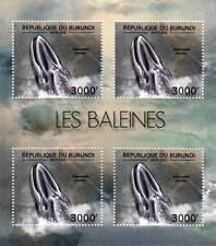 FIN / FINBACK WHALE Marine Life Stamp Sheet #5 of 7 (2012 Burundi)