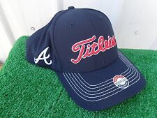 Titleist Atlanta Braves MLB Stretch Tech Fitted Golf Hat Cap NEW Medium / Large