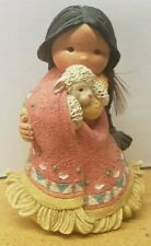 """Enesco 1994 Friends Of The Feather Figurine """"She Who Cares A Lot"""" # 115630"""