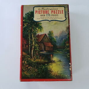 Whitman Masterpiece Picture Puzzle--Moonlight on the Millstream-275 pieces-#3964