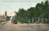 NEW BRUNSWICK NJ - Rutgers College Entrance Gates at Somerset Street - 1908