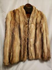 RACCOON FUR COAT Mid Length  Sz S-M Hilltop Furs NY Vntg
