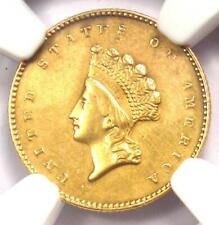 1855 Type 2 Indian Gold Dollar (G$1 Coin) - NGC XF Details - Rare Type Two!