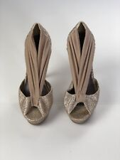WOMENS Madden Girl Gold Ouvre Glitter Prom Formal Heels SIZE 8