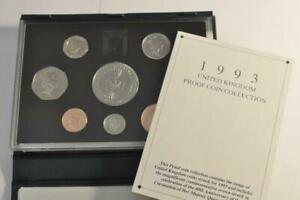 1993 United Kingdom 40th Anniv Coronation Queen Elizabeth 8 Coin Proof Set