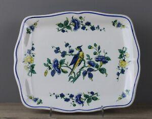 Villeroy & Boch V&B Phoenix blau Butterplatte Gebäckplatte Platte ca19,5 x 16 cm