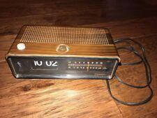 1970's Vintage Panasonic Digital Flip Clock Radio Alarm AM-FM Model RC-6253