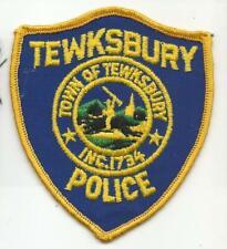 Tewksbury MASSACHUSETTS MA Police patch OLD