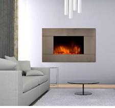 Chemin'Arte 044 - Camino elettrico con effetto fiamma Pure Inox Color (C1A)