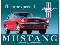 Ford Mustang Unexpected Metal Tin Sign Classic Muscle Car Garage Home Wall Decor