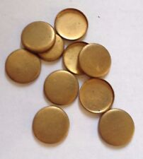 10 x Vintage Brass Round Cameo/Cabochon/Stone Settings - 12 mm approx