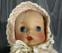 """Vintage 1941 Madame Alexander Doll.   Baby McGuffy. Molded Hair  8"""""""
