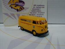"Brekina 32677 # Volkswagen VW Bus T1b Kasten in gelb "" Ganter Bier "" 1:87 NEU"