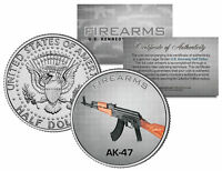 AK-47 Gun Firearms JFK Kennedy Half Dollar US Colorized Coin