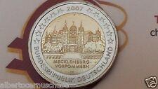 2 euro 2007 Germania Schloss Schwerin Allemagne Germany Alemania Deutschland