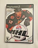 NHL 2003 (Sony PlayStation 2, 2002) CIB Complete Tested PS2