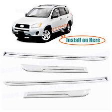 4P Chrome Door Side Lower Line Molding Covers Trim For 2006-2012 Toyota RAV4 SUV