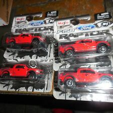 4 LOT Maisto Diecast Metal 2009 Ford F-150 SVT Raptor RED Pick Up Truck Unopened