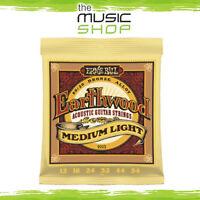Ernie Ball 2003 Earthwood 12-54 Bronze Acoustic Guitar Strings Medium Light New