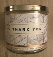 "Bath & Body Works ""Thank You"" Large 3 Wick Candle"