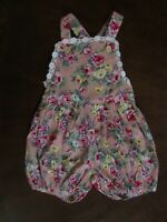Boutique Baby Girls Pink Floral One Piece Summer Romper 9-12 Mo Outfit Sunsuit