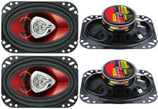 "4) New BOSS CH4620 4x6"" 400W 2-Way Car Audio Coaxial Speakers Stereo Red"