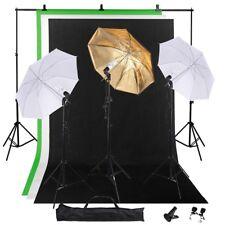 "Photo Studio 33"" Umbrella Lighting Kit with Backdrops Stand Kit Light Holder"