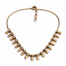Fashion Jewelry Gold Copper Row Crystal Statement Necklaces Brand Design Jewelry
