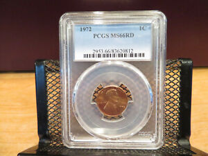 1972 Lincoln Cent PCGS MS66RD skcl0106