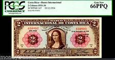 "COSTA RICA P167 FAMED ""MONA LISA"" 1936 2 COLONES GRADED PCGS 66 PPQ! FINEST KN!"