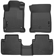 Husky Liners WeatherBeater Floor Mats - 3pc - 98481 - Honda Accord 13-17 - Black