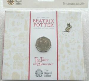 The Tailor of Gloucester 2018 UK 50p BU Coin