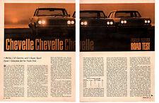 1964 CHEVROLET CHEVELLE SS - MALIBU - EL CAMINO ~ ORIG ROAD TEST / ARTICLE / AD