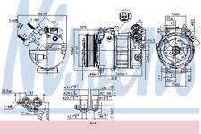 NISSENS 890125 Klimakompressor Kompressor Klimaanlage für FORD MAZDA VOLVO