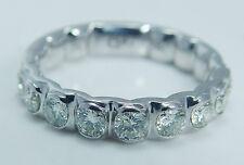 14K White Gold .88ct Diamond Anniversary Wedding Band Ring Mfit M Fit