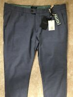 "TED BAKER BLUE ""TEGATIN"" SLIM FIT TROUSERS PANTS CHINOS - 38L - NEW & TAGS"