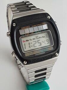 Seiko A156-5030 Silver Wave Solar Quartz Alarm Chrono Japan Made 1979 very Rar