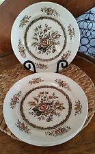 4 Wood & Sons Rosedale Dinner Plates England Hand Engraved