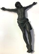 Jesusfigur Bronze groß Jesus Relief Figur Grabschmuck Wandschmuck Religion